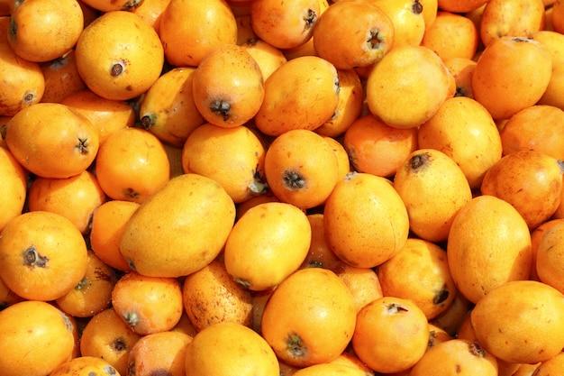 Fruits de néflier gros plan Photo Premium