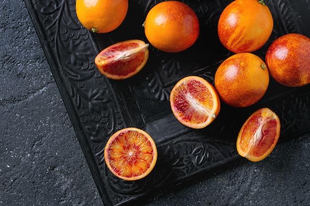 Fruits d'oranges de sang sicilien Photo Premium