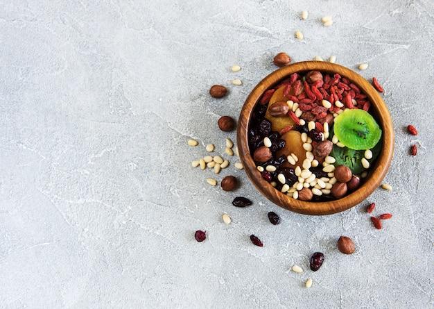 Fruits secs et noix Photo Premium