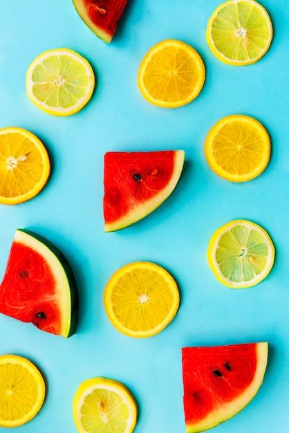 Fruits tropicaux, saine alimentation vitamine nutrition naturelle Photo gratuit