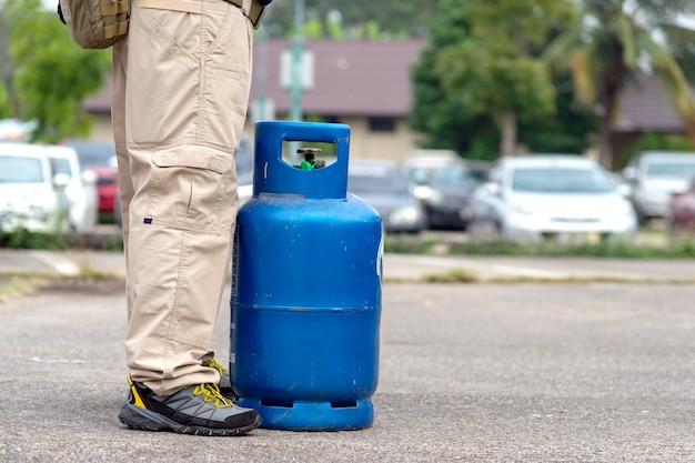 Fuite de gaz, formation d'extincteur Photo Premium