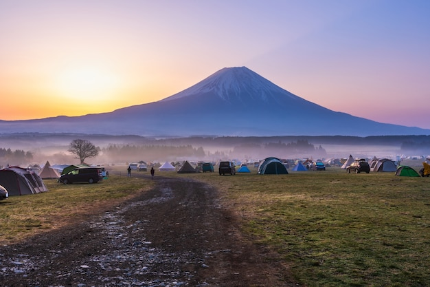 Fujinomiya shizuoka japonais du camping fumotoppara Photo Premium