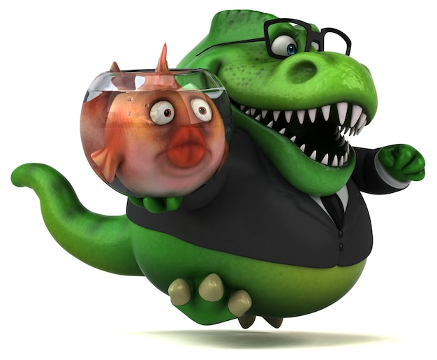 Fun Trex - Illustration 3d Photo Premium