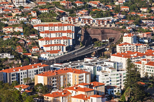 Funchal vue aérienne Photo Premium