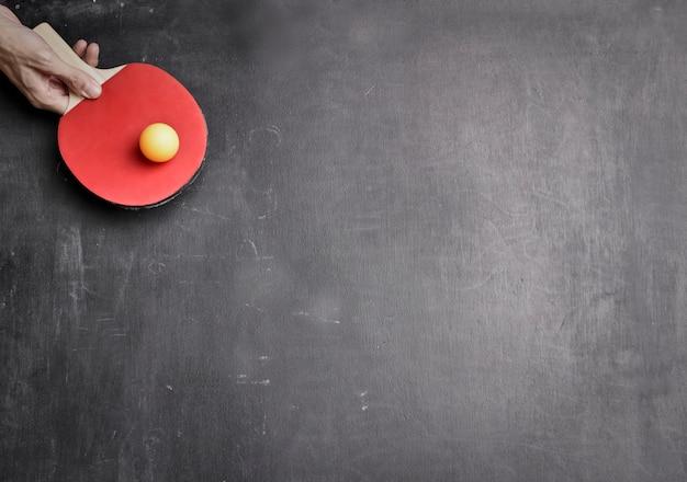 Fusée et tableau de tennis de table Photo Premium