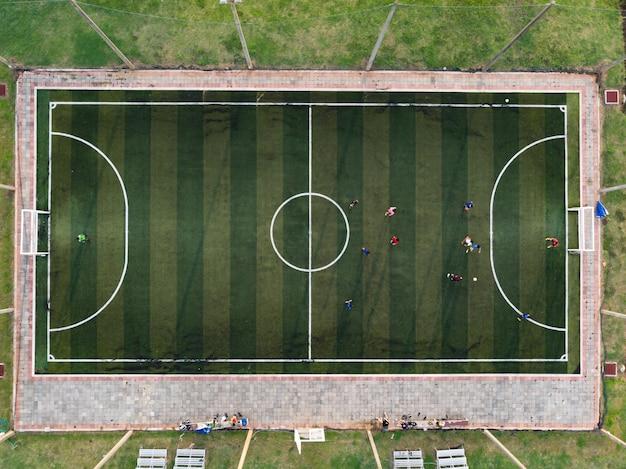 Futsal extérieur, terrain de football Photo Premium