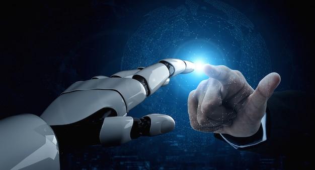 Futur Robot D'intelligence Artificielle Et Cyborg Photo Premium