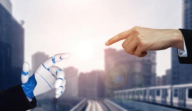 Futur Robot D'intelligence Artificielle Et Cyborg. Photo Premium