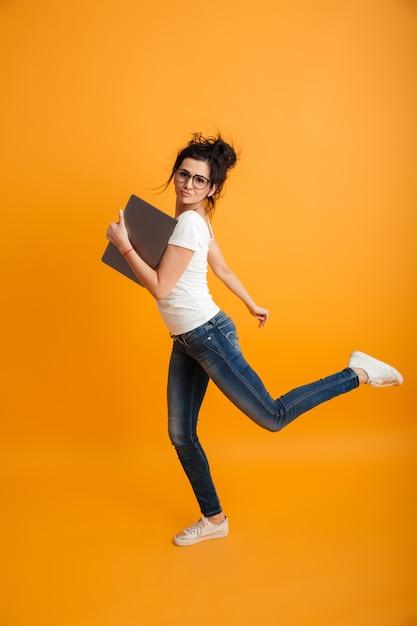 Gaie, Jeune Femme, Courant Photo Premium