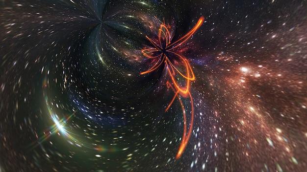 Galaxie Un Système De Millions Ou De Milliards D'étoiles, Avec Du Gaz Et De La Poussière, Photo Premium