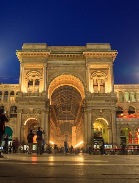 Galerie vittorio emanuele ii, milan Photo Premium