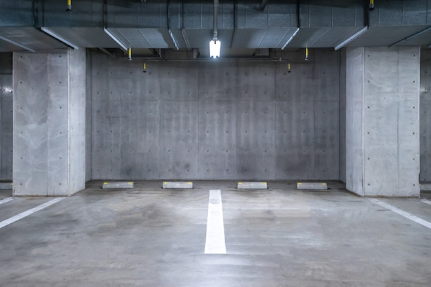 Garage de stationnement souterrain Photo Premium