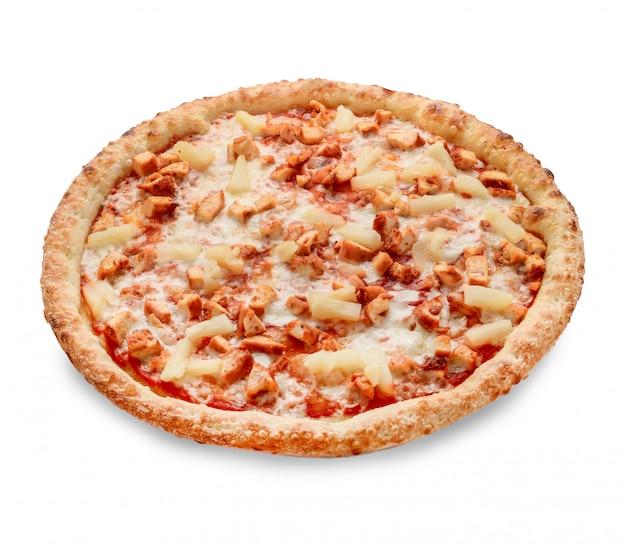 Garniture De Pizza Populaire Dans Les Pizzerias De Style Américain Sur Blanc Photo Premium