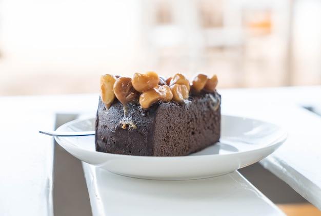 Gâteau au chocolat macadamia Photo gratuit