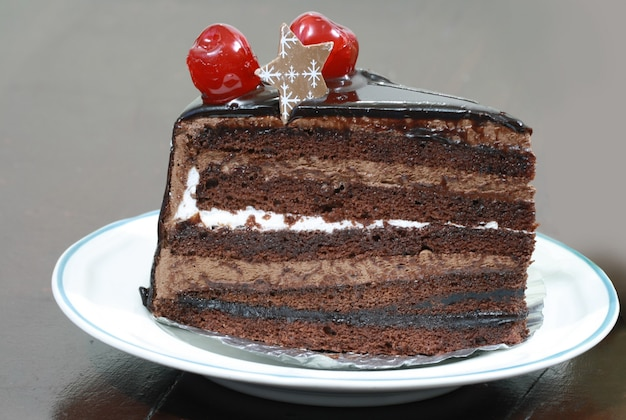 Gateau au chocolat Photo Premium