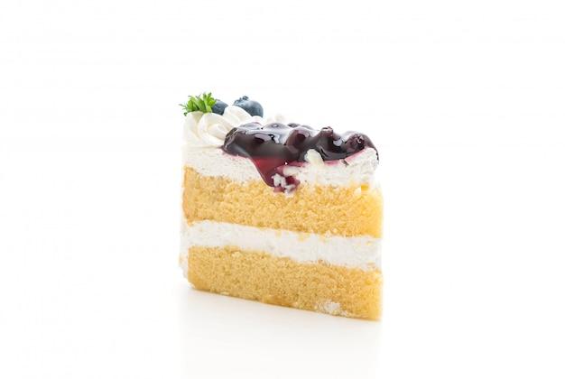 Gâteau aux bleuets isolé Photo Premium