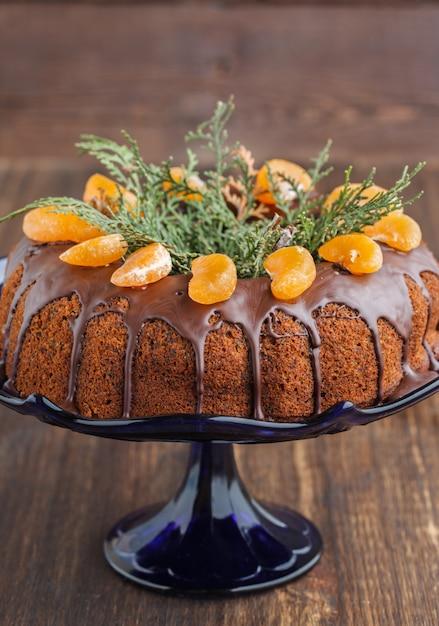 Gâteau Aux Mandarines Pour Noël Photo Premium