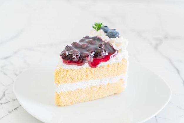Gâteau aux myrtilles sur plaque Photo Premium
