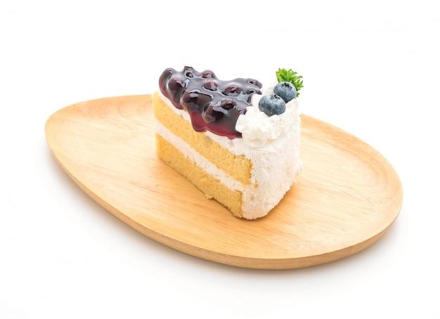 Gâteau aux myrtilles Photo Premium