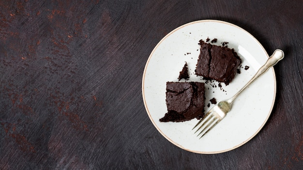 Gâteau fait maison au chocolat Photo gratuit