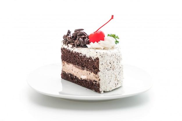 Gâteau de la forêt noire isolé Photo Premium