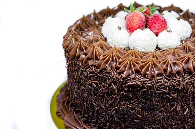 Gâteau gourmet brésilien avec Photo Premium