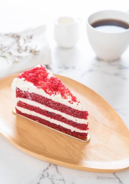 Gâteau de velours rouge Photo Premium