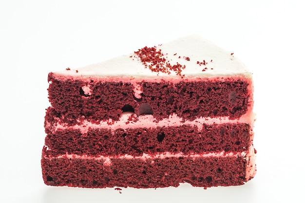 Gâteaux de velours rouge isolés Photo gratuit