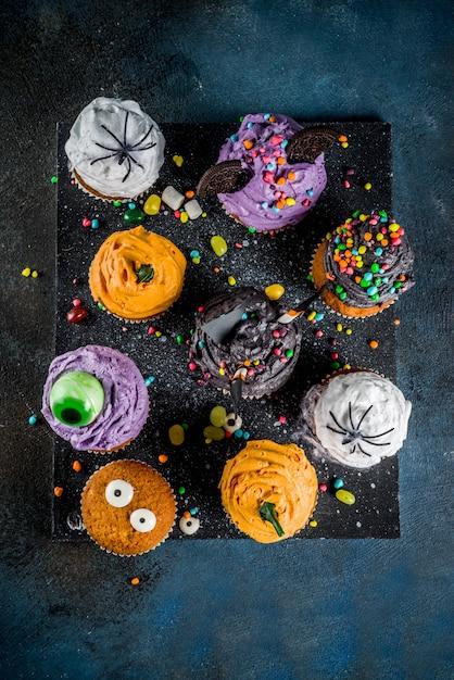 Des gâteries drôles pour halloween Photo Premium