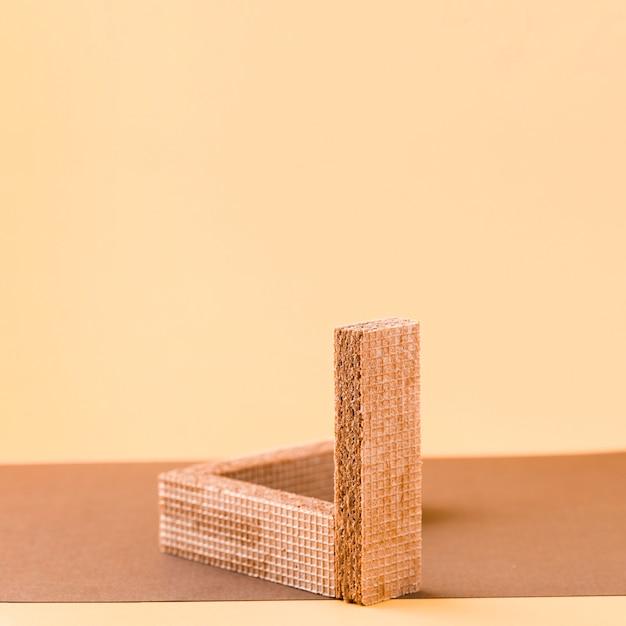 Gaufrettes Domino Avec Fond De Saumon Photo gratuit