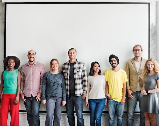 Les gens la diversité amis amitié bonheur concept Photo Premium