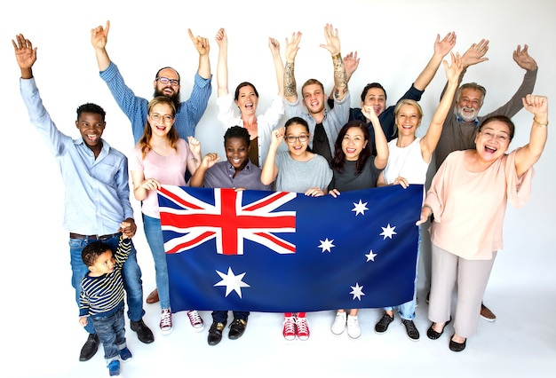 Des gens heureux d'australie Photo Premium