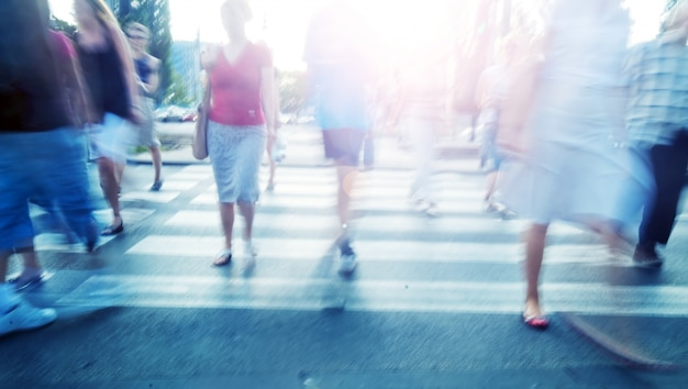 Les gens marchant Photo gratuit