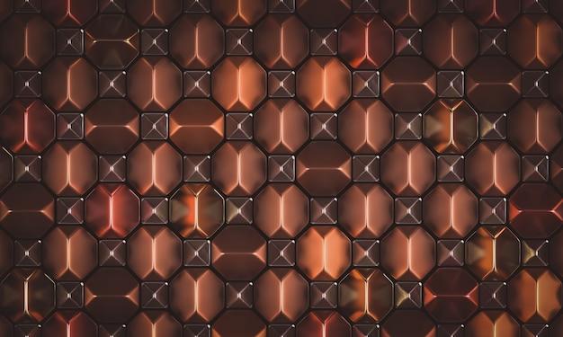 Géométrique Abstrait Métallique Photo Premium