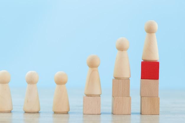 Gestion des ressources humaines, recherche de personnes et d'équipes commerciales avec les concepts de dirigeant d'entreprise-image. Photo Premium