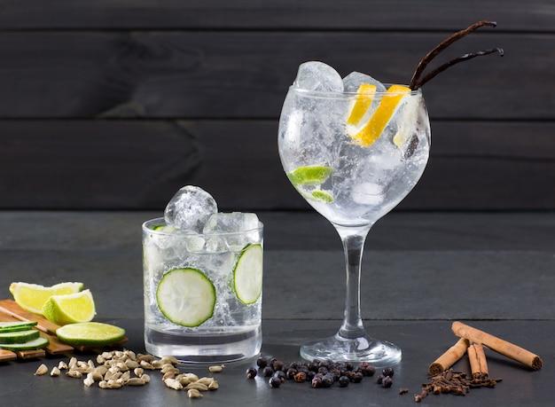 Gin tonic cocktail Photo Premium