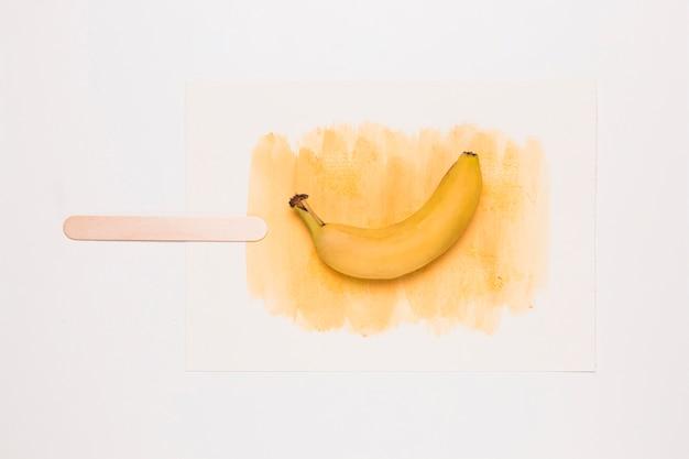Glace aquarelle à la banane Photo gratuit