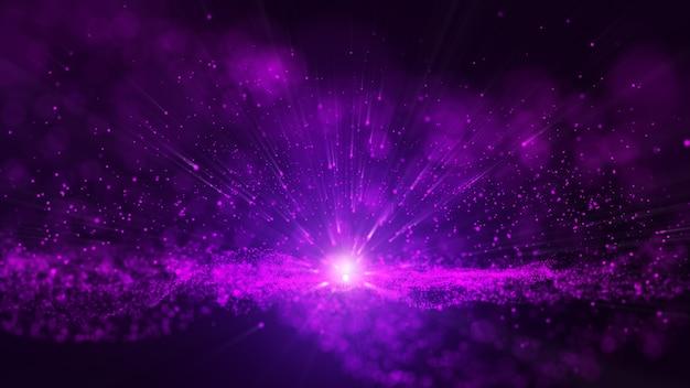 Glitter violet poussière particale étincelles étincelle abstrait. Photo Premium