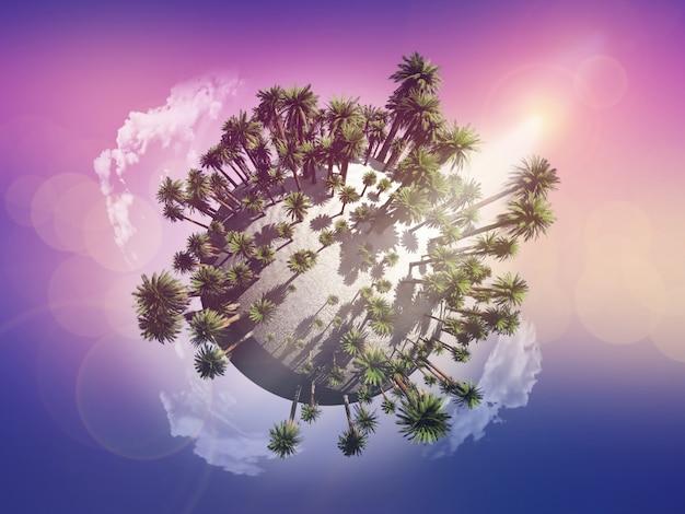 Globe de palmier Photo gratuit