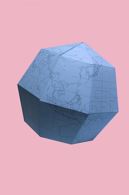 Globe terrestre papier planète polygonale Photo Premium