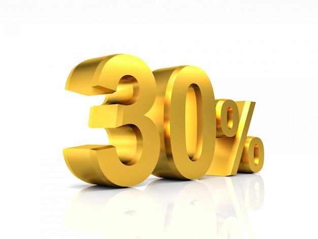 Golden 30 réduction Photo Premium