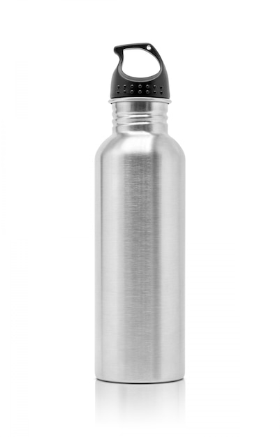 Gourde en aluminium métallique pour activité sportive Photo Premium
