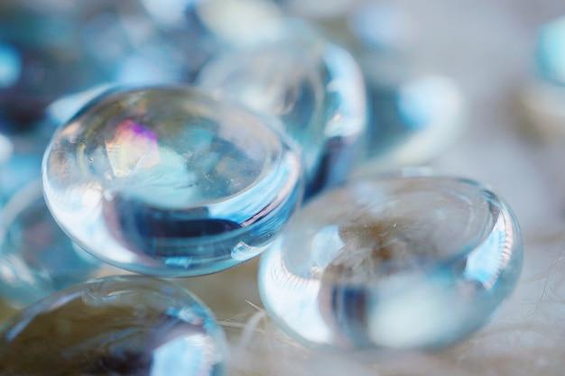 Gouttes de cristal bijou ornement décoratif Photo Premium
