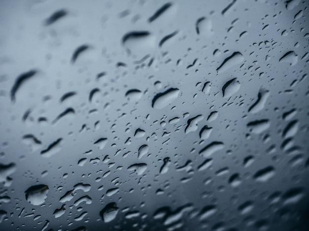 Gouttes de pluie fond. Photo Premium