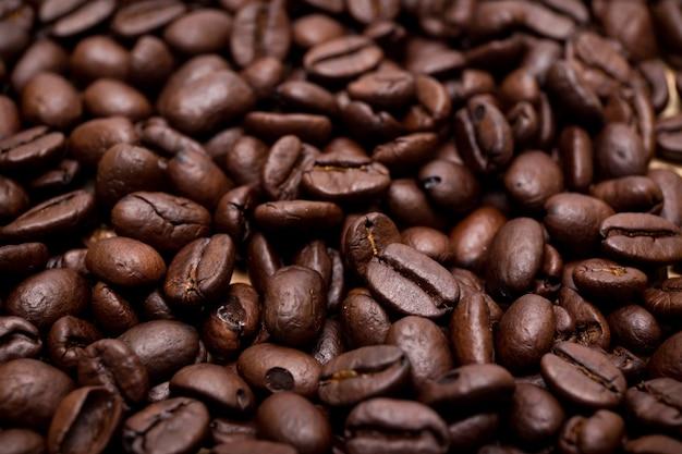 Grains De Café Biologiques. Photo Premium