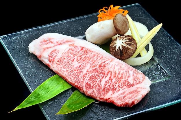 Grand boeuf wagyu japonais Photo Premium