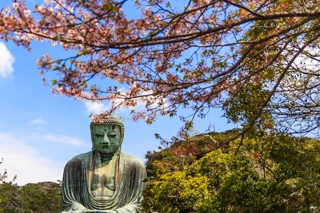 Le Grand Bouddha (daibutsu) Sur Le Terrain Du Temple Kotokuin à Kamakura, Au Japon. Photo Premium