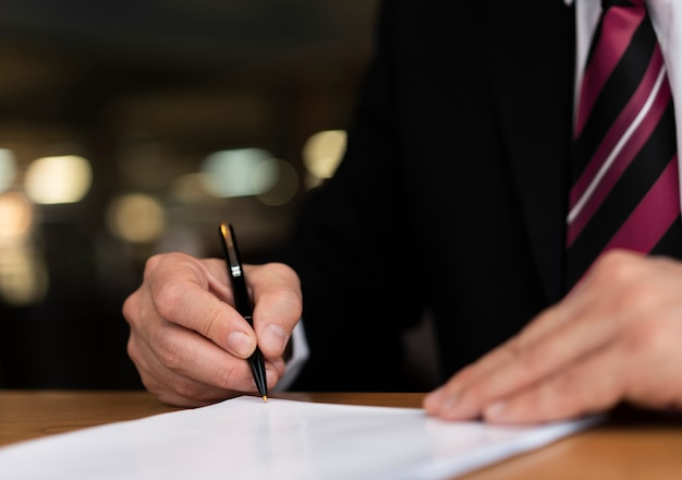 Grand plan, homme affaires, écriture Photo gratuit