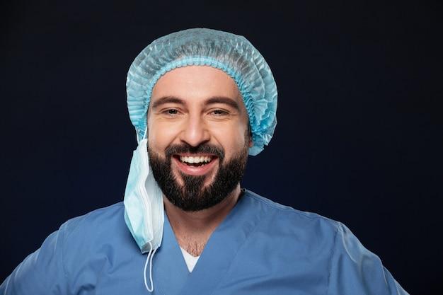 Grand Plan, Portrait, De, A, Sourire, Homme, Chirurgien Photo gratuit
