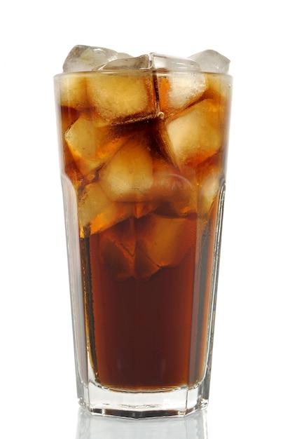 Grand Verre De Cola Glacé Photo gratuit
